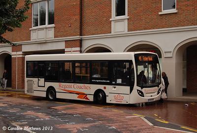 Regent Coaches YX09FNF, Canterbury, 9th September 2013