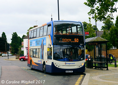 Stagecoach 19087 (MX56FUF), Horse Market, Kettering, 2nd August 2017