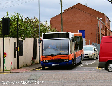 Centrebus 230 (KX55PFF), Queen Street, Kettering, 2nd August 2017 Centrebus 230, Queen Street, Kettering, 2nd August 2017