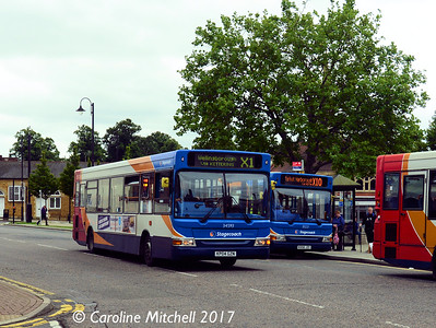 Stagecoach 34593 (KD04GZN), Horse Market, Kettering, 2nd August 2017