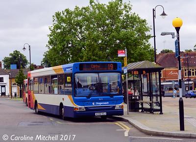 Stagecoach 35179 (KX56KGJ), Horse Market, Kettering, 2nd August 2017