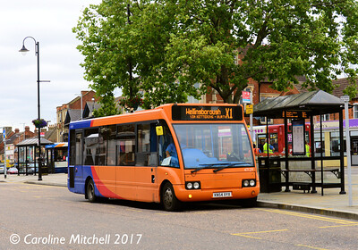 Stagecoach 47129 (KN54XYX), Horse Market, Kettering, 2nd August 2017