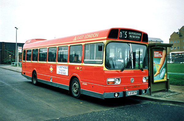 LS97 OJD897R, Isle of Dogs 25/1/1991