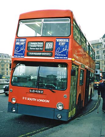 DMS2456 OJD456R, Trafalgar Square 25/1/1991