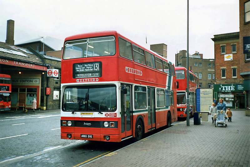 T965 A965SYE, Kingston-upon-Thames 17/5/1991