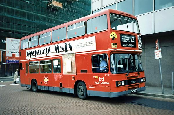 L252 D252FYM, Croydon 20/5/1991