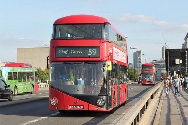 LT322 LTZ1322, Waterloo Bridge 25/8/2017