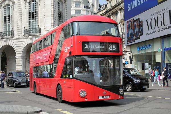 LT511 LTZ1511, Piccadilly Circus 18/8/2016