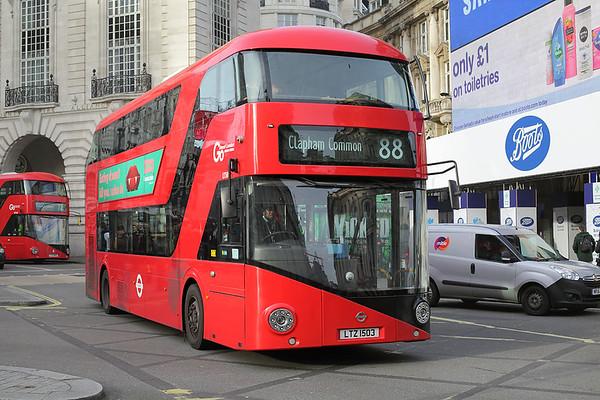 LT503 LTZ1503, Piccadilly Circus 3/1/2017