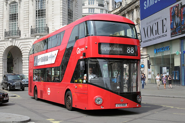 LT508 LTZ1508, Piccadilly Circus 18/8/2016