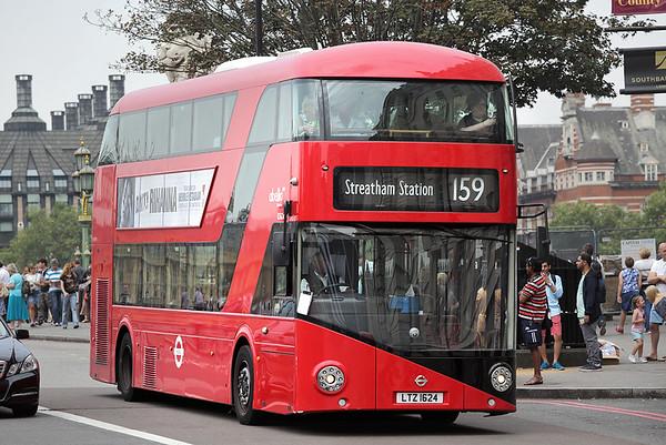 LT624 LTZ1624, Westminster Bridge 18/8/2016