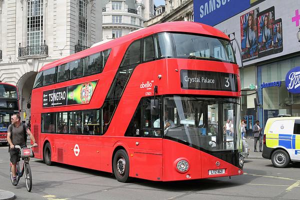 LT621 LTZ1621, Piccadilly Circus 18/8/2016