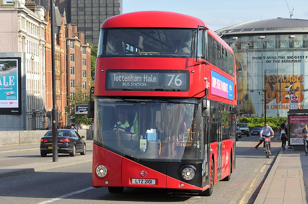 LT901 LTZ2101, Waterloo Bridge 25/8/2017
