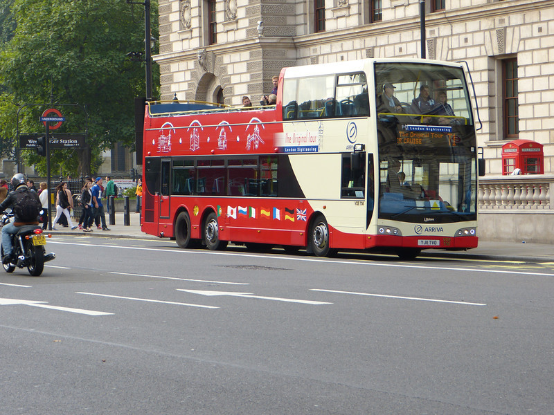 Arriva Original London sightseeing Tour VXE730  Parliament Street  28 09 13