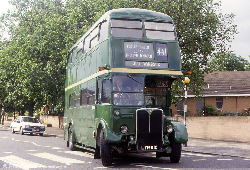 A final shot of RT3491 (LYR 910) photographed in May 1993.
