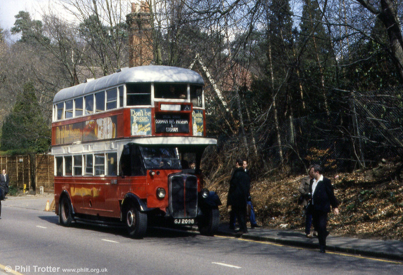 Another view of London Transport ST922 (GJ 2098) at Cobham.