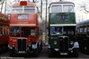 An early model RT, RT190 (HLW 177) seen alongside AEC Regent II/Weymann STL2692 (HGC 225) at Cobham Museum.