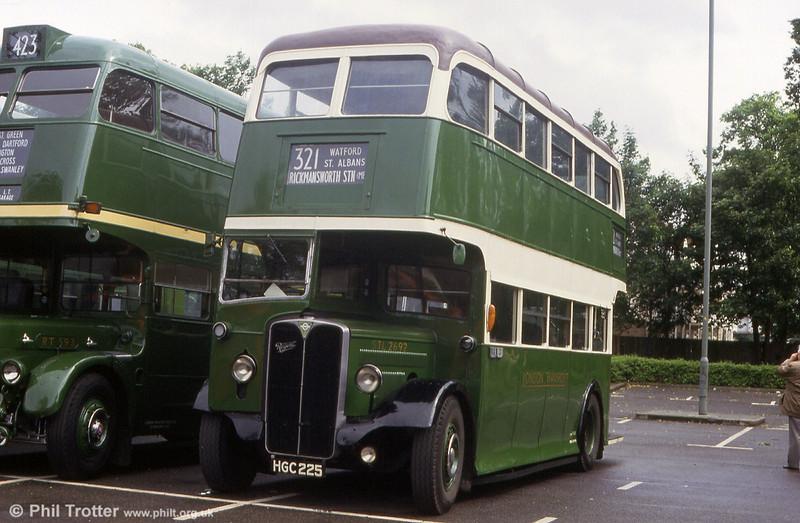 AEC Regent II/Weymann STL2692 (HGC 225), seen at Barking on 31st May 1993.