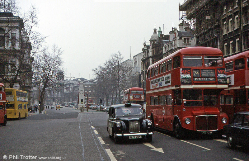 RML2733 (SMK 733F) and other London icons in Whitehall in March 1984.