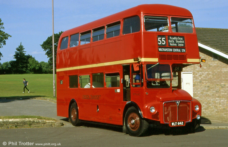 Former London Transport RM642 (WLT 642) an AEC Routemaster/Park Royal at Alton rally in 1999.