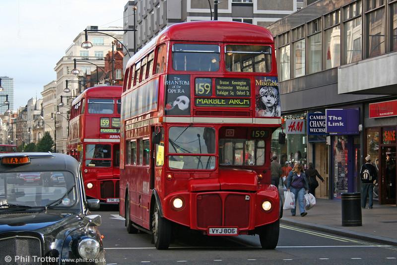 RM1124 (VYJ 806) in Oxford Street on 5th November 2005.