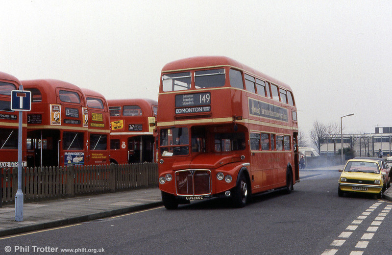 Preserved RCL2260 (CUV 260C) at a rally in Barking.
