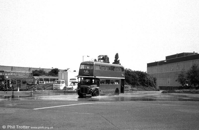 RMC1518 (518 CLT), hits the wet patch on the skid pan at Chiswick Works.