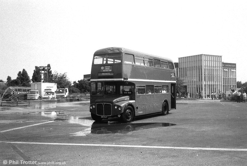 RMC1518 (518 CLT), relegated to training duties, on the skid pan at Chiswick Works in July 1983.