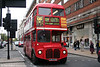 RM54 (LDS 279A) in Oxford Street on 5th November 2005. The bus, originally registered VLT 54, ended its first phase of operation in Scotland before passing into preservation. It was repurchased by TfL and refurbished in 2002/3.