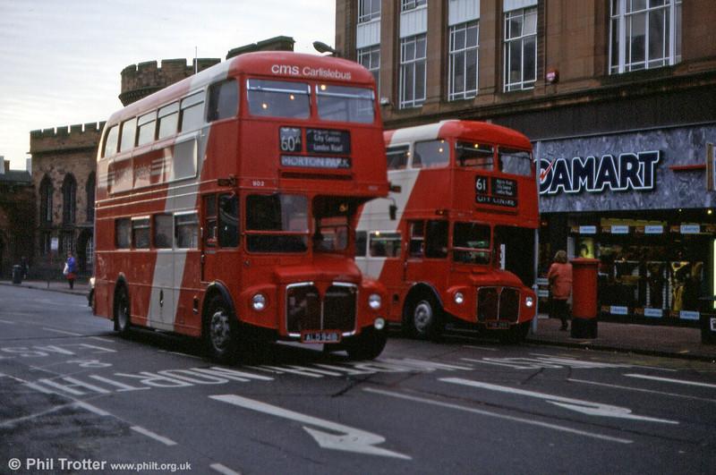 RM1941 (ALD 941B) and RM706 (TSK 269) at Carlisle, 5th November 1992.