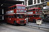 A pair of Routemasters in service at Victoria in March 1984. This is RML2478 (JJD 478D).