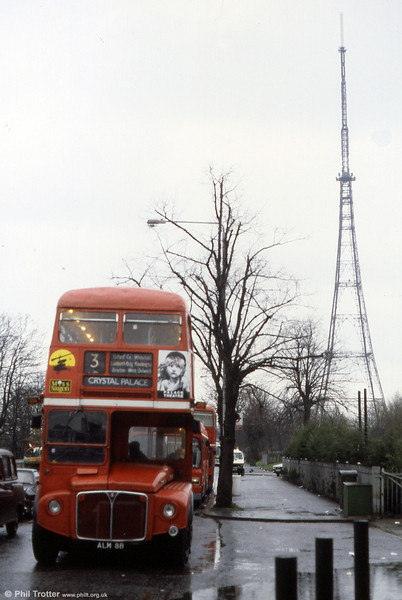 RM2008 (ALM 8B) on a wet day at Crystal Palace terminus.