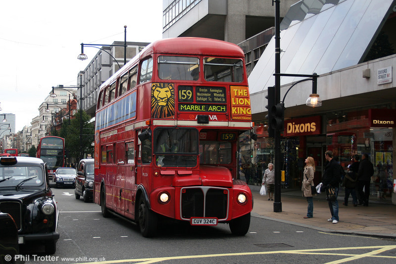 RML2324 (CUV 324C) in Oxford Street on 29th October 2005.