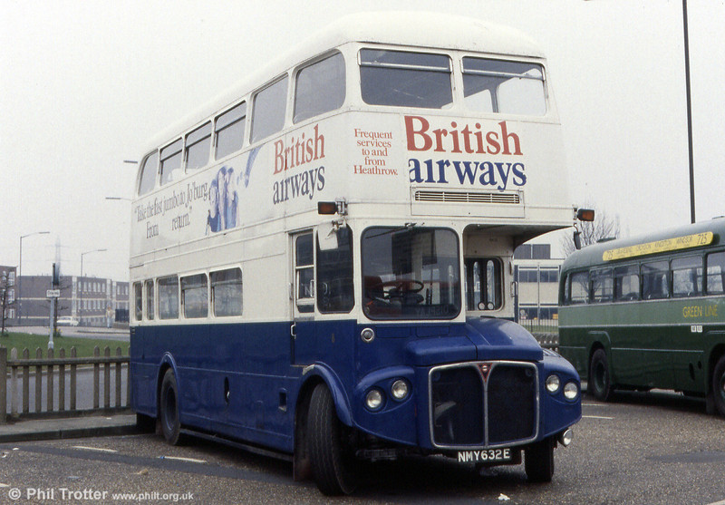 RMA49 (NMY 632E), a former BEA Routemaster restored to BA livery.
