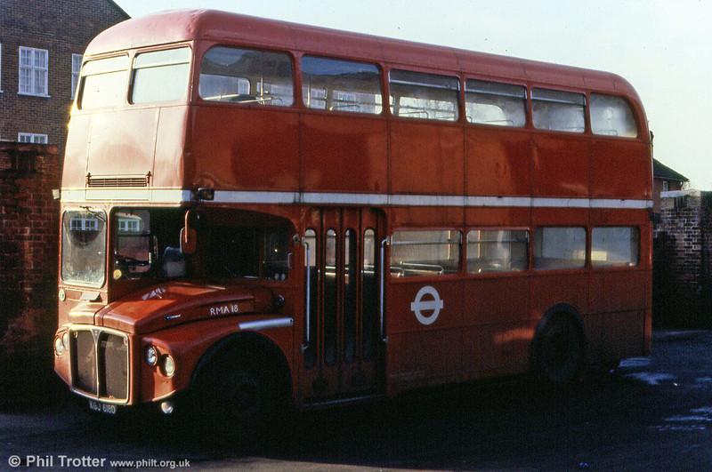 RMA18 (KGJ 618D) one of the 35 RMAs built for BEA services to Heathrow.