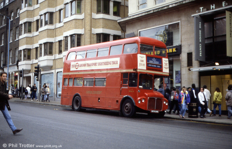 Former BEA/British Airways RMA51 (NMY 636E) on a Round London Sightseeing Tour.