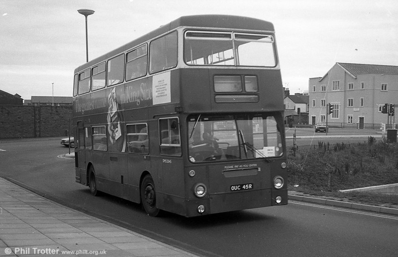 DMS2045 (OUC 45R) seen on loan to South Wales Transport, Swansea in September 1982.