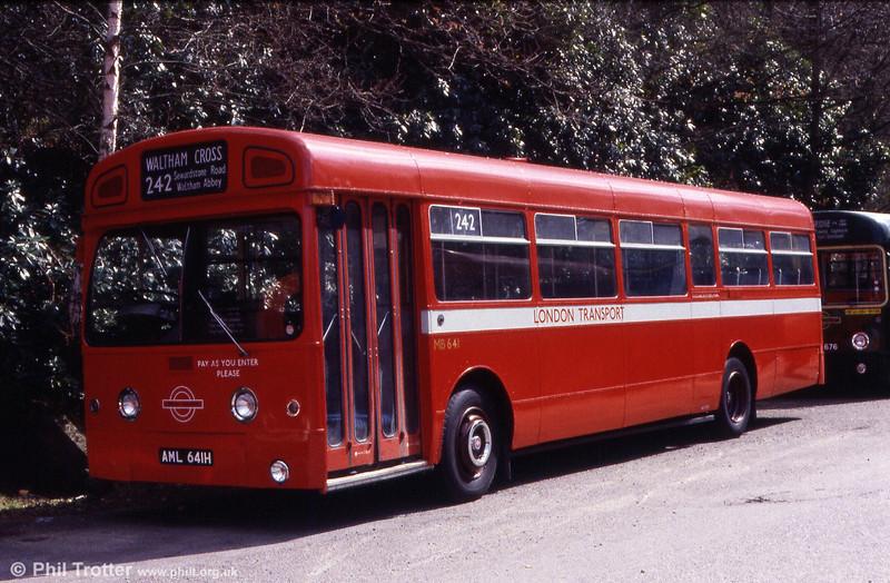 AEC Merlin/MCW B50F MB641 (AML 641H) at Cobham.