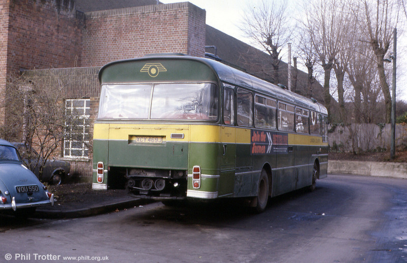 A rear view of former SWT AEC Swift 2MP2R/Marshall B53F SMW11 (XCY 469J).