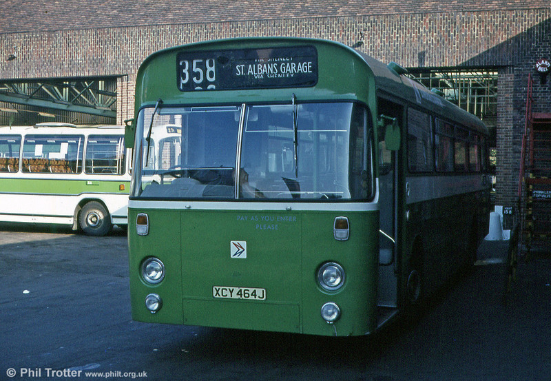 SMW6 (XCY 464J), an AEC Swift 2MP2R/Marshall B53F transferred from South Wales in 1971.