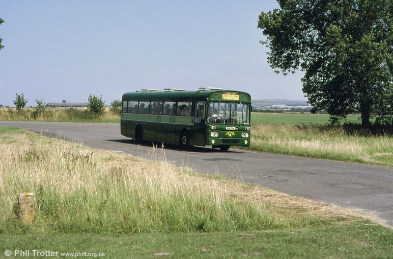 London Country AEC Reliance RP90 (JPA 190K) running at an open day at Wroughton Airfield in 2001.