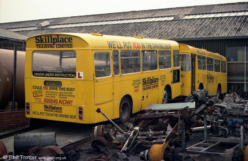 Skillplace's former London Country BL16/14 (SPK 116/4M), 1973 Bristol LH6L/ECW B35F at Ravenhill depot. Swansea.