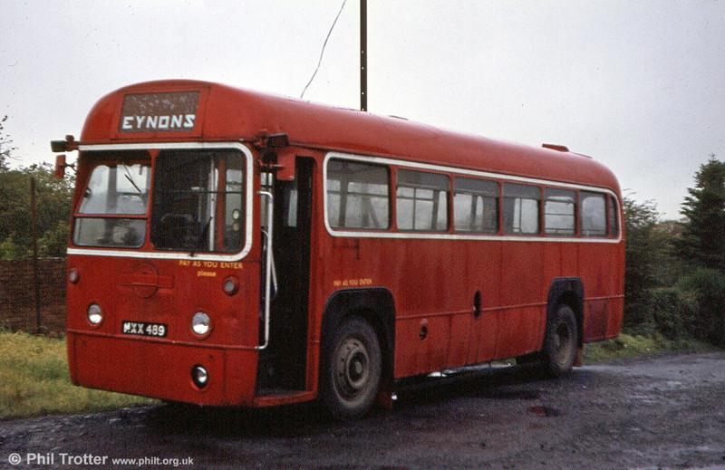 RF512 (MXX 489) parked up at the depot of Eynon's, Trimsaran.