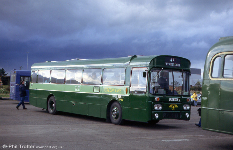 RP90 (JPA 190K), a Park Royal DP45F bodied AEC Reliance 6U2R chassis, the last of a batch of 90 supplied to London Country in 1971/72.