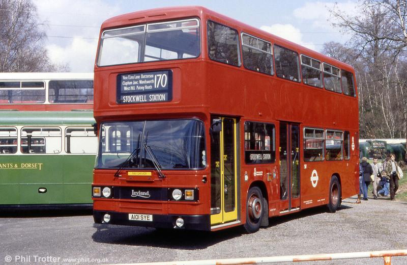 L1 (A101 SYE), a 1984 Leyland Olympian/ECW H47/28D.