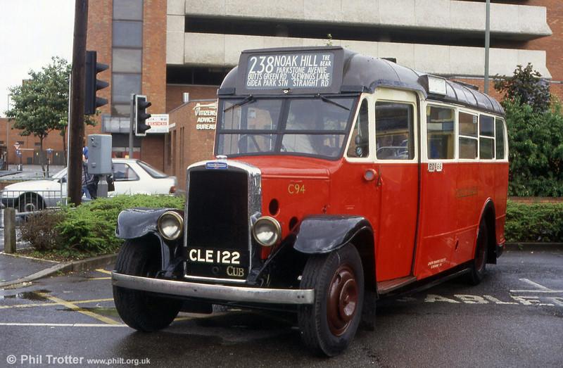 London Transport C94, a Leyland Cub KPO3 built in 1936 with a Weymann body.