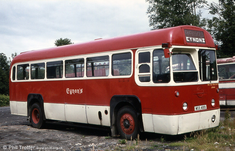 RF512 (MXX 489) seen in a later Eynon's livery.
