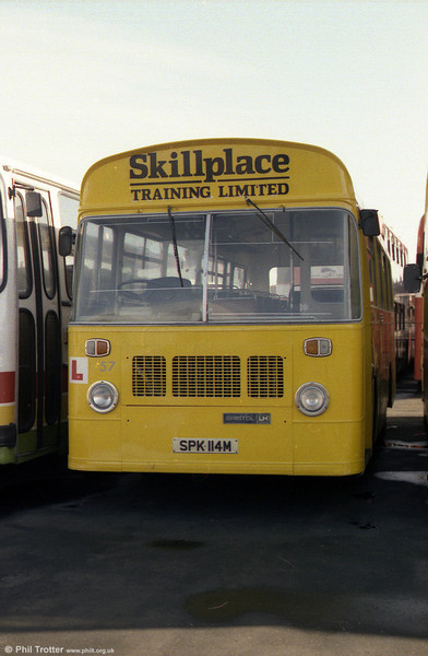 Skillplace Training 57 (SPK 114M), a Bristol LHS6L/ECW B35F, new in 1973 as London Country BL14.