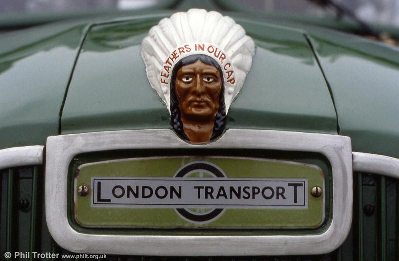 The once familiar Guy bonnet badge, seen on GS17 (MXX 317).