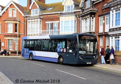 First 44517 (YX09ACY), Gordon Road, Lowestoft, 28th September 2018